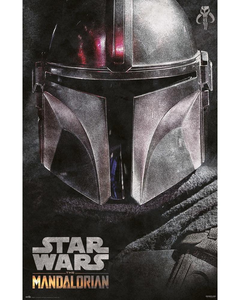Póster Star Wars The Mandalorian Helmet