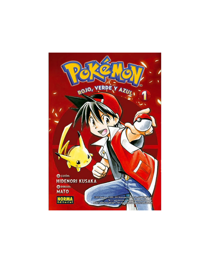 Manga Pokemon 01. Rojo, Verde y Azul 01