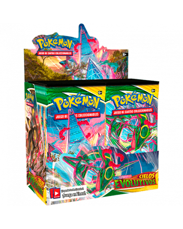 Caja Sobres Espada y Escudo Cielos Evolutivos de JCC Pokémon